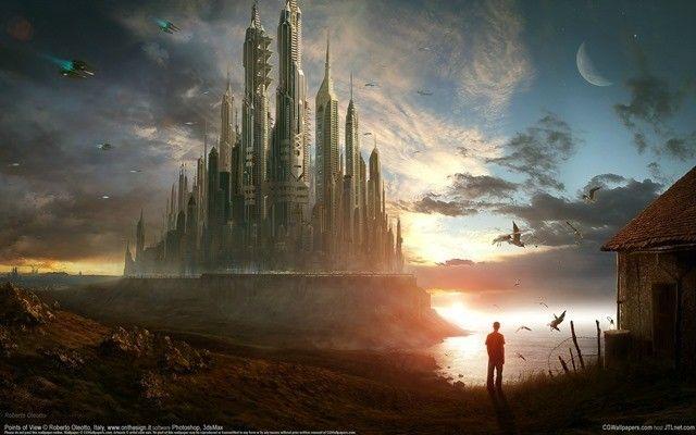 أجمل 575 خلفية من خلفيات سطح المكتب ستجعلك تعشق جهازك من جديد Futuristic City City Wallpaper Fantasy City