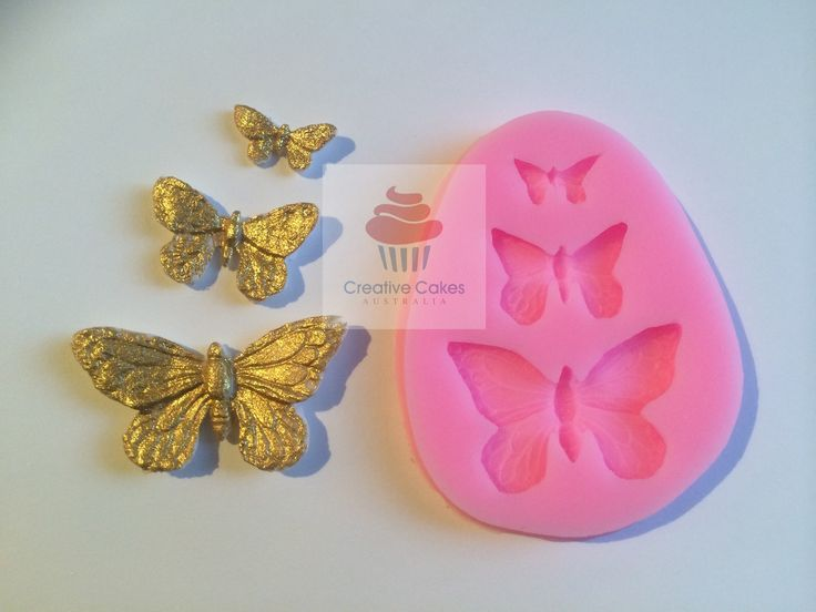 Creative Cakes Australia - 3 Butterflies Silicone Mould