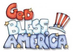 God Bless America. Happy July 4th!