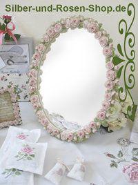 Schneewittchen Rosen-Spiegel - Silber-und-Rosen-Shop