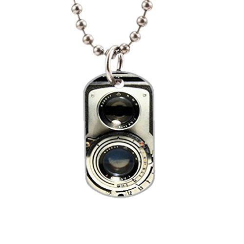 Vintage Camera Fashion Image Custom Unique Personalized Dog Tag Necklaces, dogtag size About 1.3X 2.2 inches Ideal Gift * To view further for this article, visit the image link. #DogHatsNecklacesGlassesHairAccessories