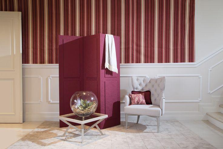 Ingenioso diseño, que moderniza la habitación, mural Marble en junto a un sillón , en tono