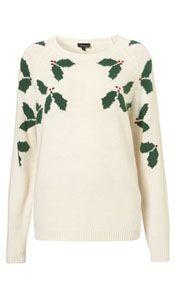 Nice delicate version of novelty Christmas jumper