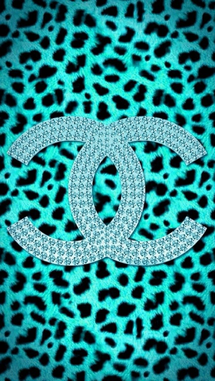Duitang ~ Chanel Blue Leopard Skin Wallpaper. | Chanel