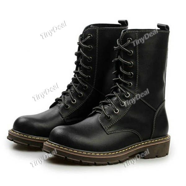 Casual Leather Lace Up Classic Dr Martens Boots Men's Shoes NST-236741