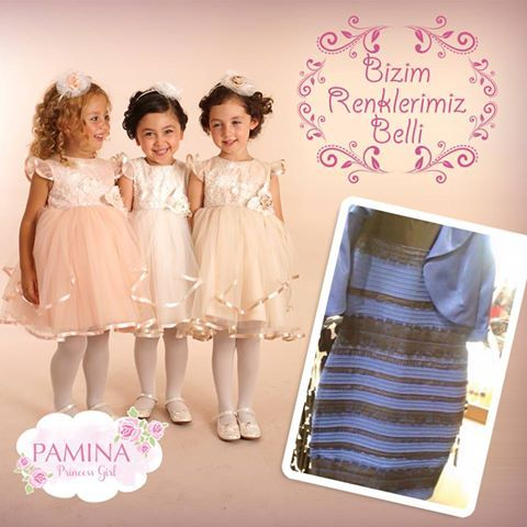 Bizim renklerimiz belli smile ifade simgesi #thedress   Our colors are very clear...