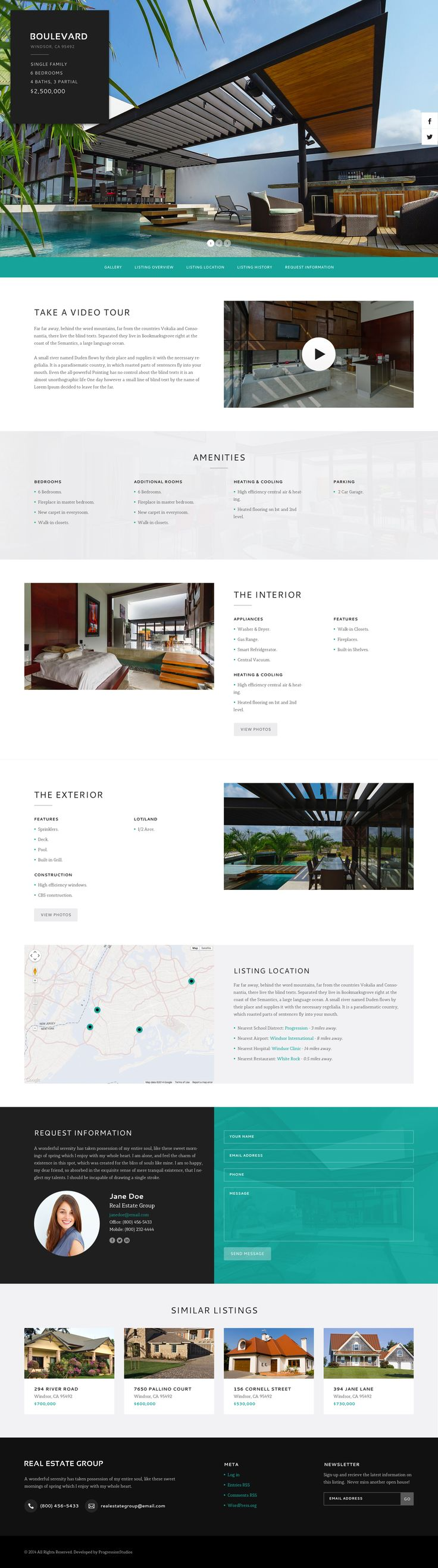 Boulevard Property Listing Page, by Matt on Dribbble.