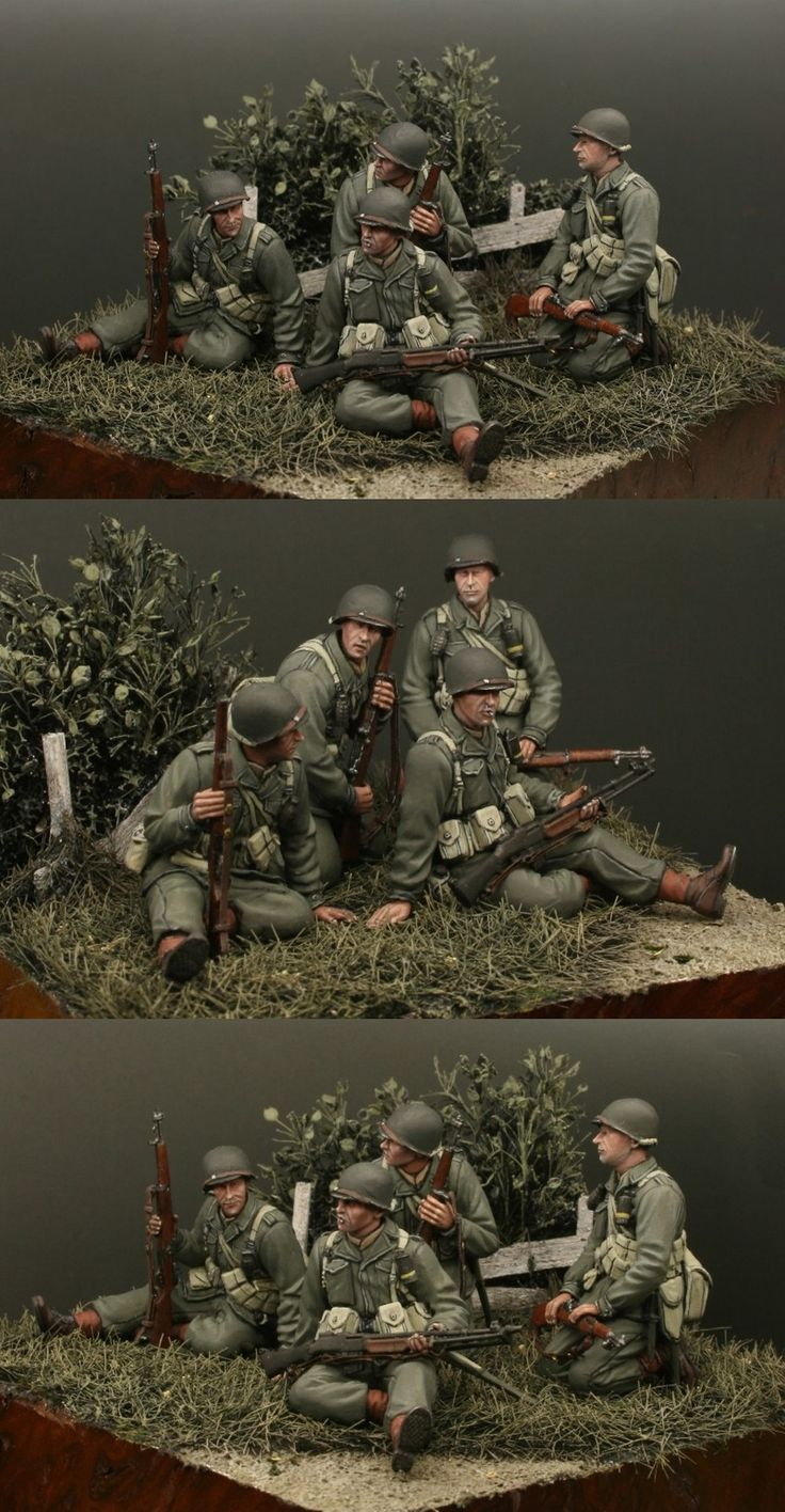 Incredible Painting 1/35 Dragon Figures (US Army Tank Riders) + Hornet Heads - by Gunther Sternberg