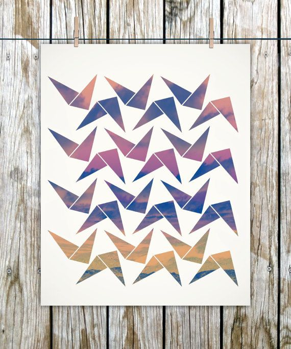 Birds in Flight  8x10 Archival Print  Home Decor  Wall by maywefly, $12.50