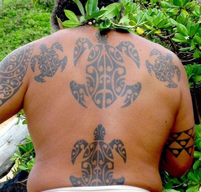 Hawaiian Sea Turtle Tribal Tattoos Designs:This tattoo shaped sea ...