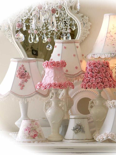 A lamp collection...Sign Me Up  ...Fabric Flower Lamp Shade... (480×640)