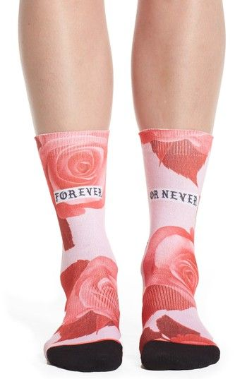 Free shipping and returns on Stance Dedication Tomboy Crew Socks at Nordstrom.com. A bright rose print defines soft, cushioned crew socks designed with arch support, a seamless toe cap and a reinforced heel and toe for exceptional comfort.