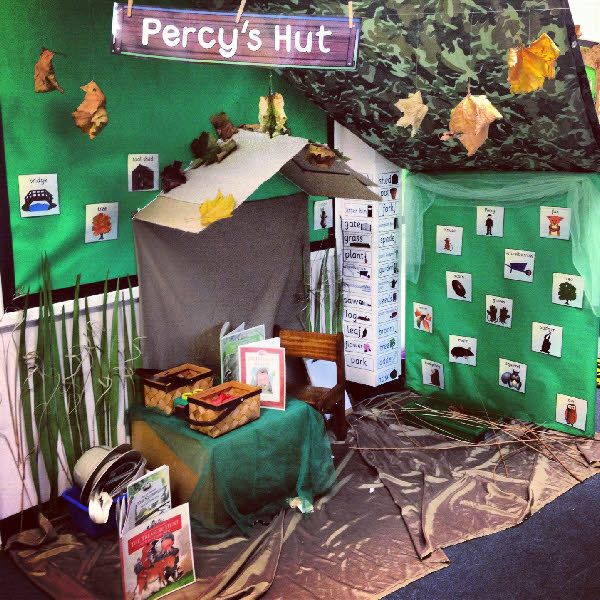 The Percy part just reminded me of Percy Jackson! It kinda looks like a cabin, when you look at it closely!