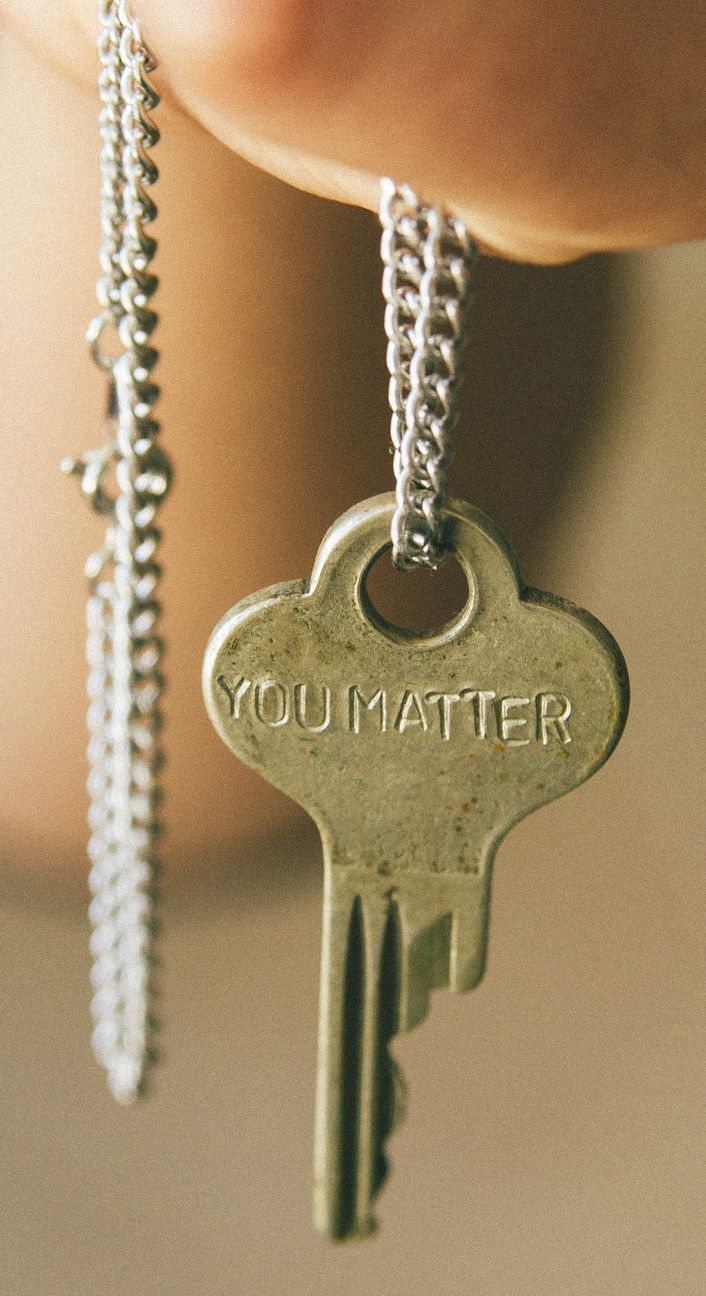 """""""You Matter"""" Giving Key Pendant in Silver - accessories that motivate! #Sevenly"""
