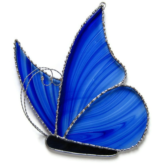 Cobalt Blue Butterfly Sun Catcher