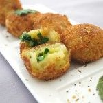 Potato, Cottage Cheese and Spinach Rolls
