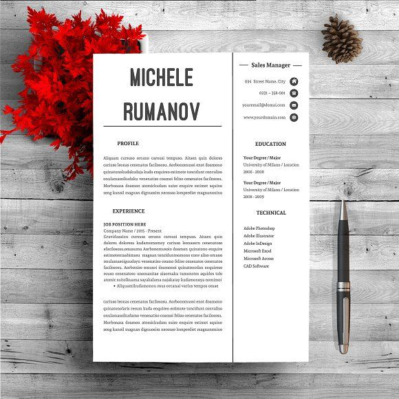 Creative Resume Template by Resumeboutiques on @Graphicsauthor