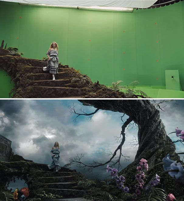 Alice In Wonderland - movies-before-after-visual-effects-31