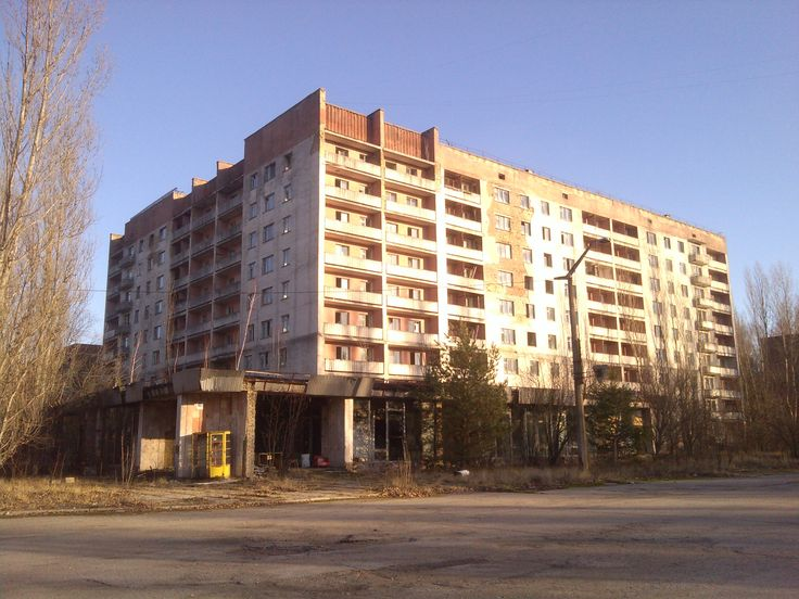Arriving to central Pripyat