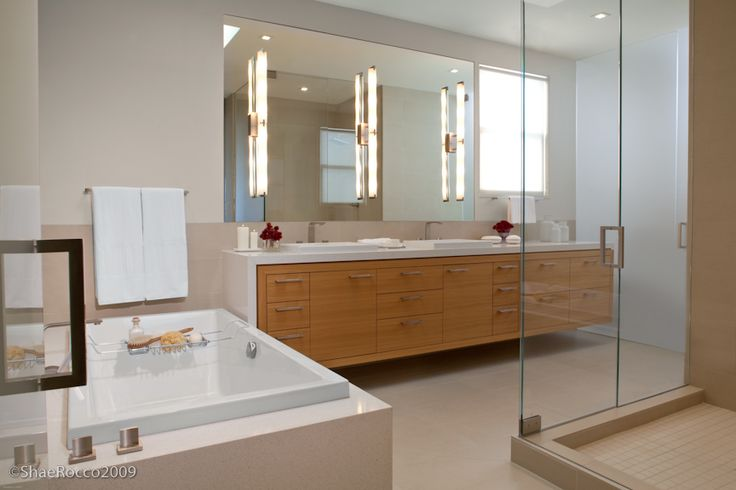 Contemporary Master Bathroom by Jennifer Gustafson on http://roomreveal.com