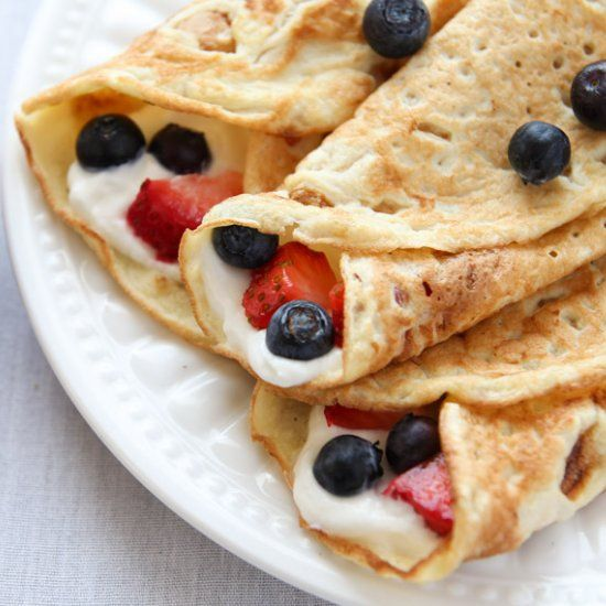 Healthy crepes made from coconut flour! They are gluten free, low carb and paleo-friendly.
