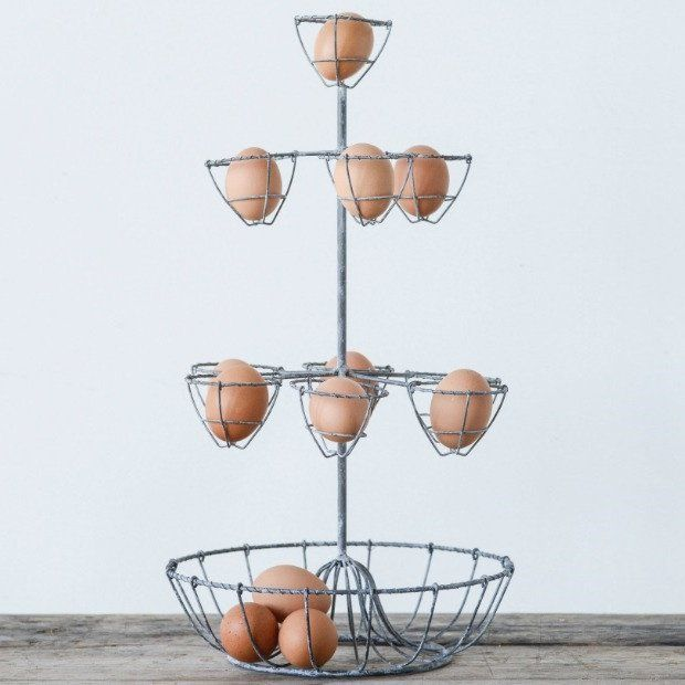 3 Tier Metal Egg Basket Stand