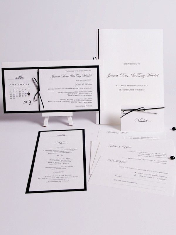 Rendezvous Collection - Black & White Invitations - Themed Invitations   Red Wax Invitations