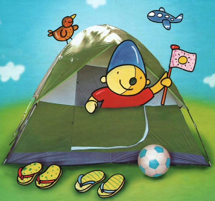 Plaatje Pompom in de  tent