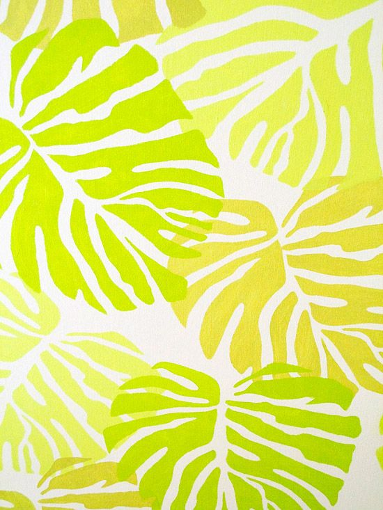 Work out color combos on a sample board to make sure you like the palette before you paint your final project. Here, a sample board tests out slightly overlapping the leaves which results in layers that create a jungle effect.