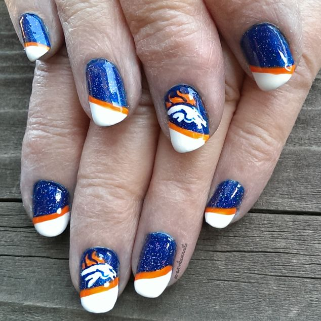 20131102 Broncos 01 by m-everhamnails | Nails | Pinterest | Broncos nails,  Nails and Denver broncos nails - 20131102 Broncos 01 By M-everhamnails Nails Pinterest Broncos