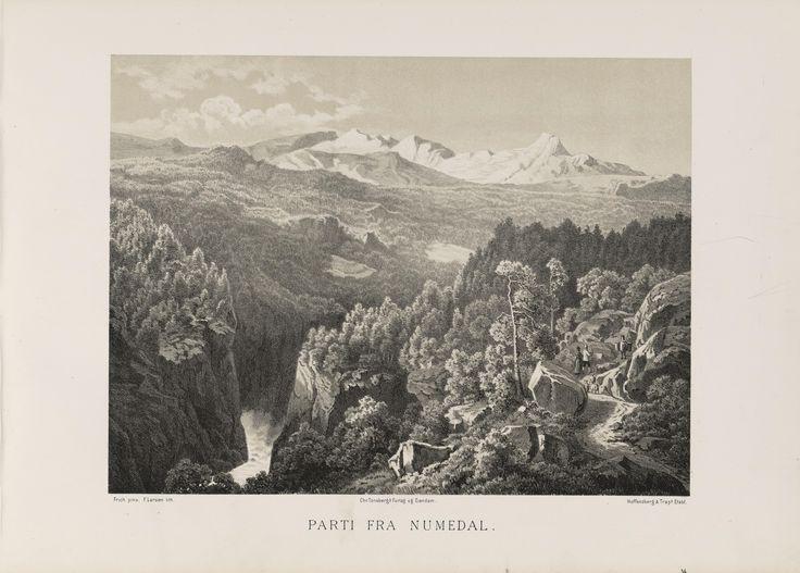 Norge fremstillet i Tegninger - Joachim Frich - Parti fra Numedal. jpg (6080×4360)