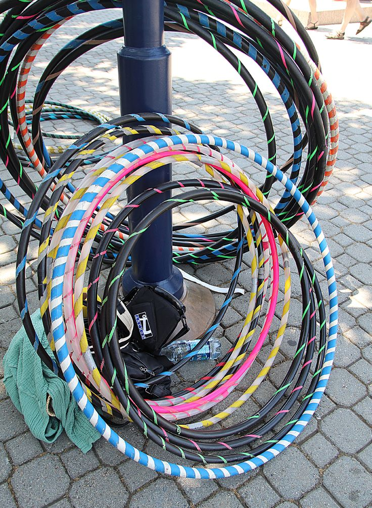 The link is on this page on How to make your own weighted hula hoop.... Great workout if you've never tried