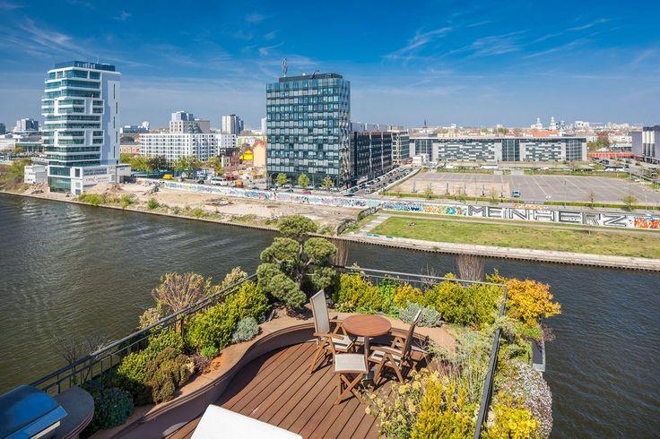 дизайн квартиры, пентхаус в Берлине, квартира с террасой, система умный дом…