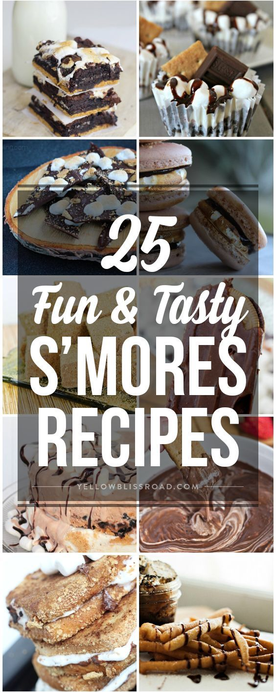 Marshmallows, chocolate and graham crackers - here are a few S'mores recipes that you'll want to put on your for your bucket list this Summer!