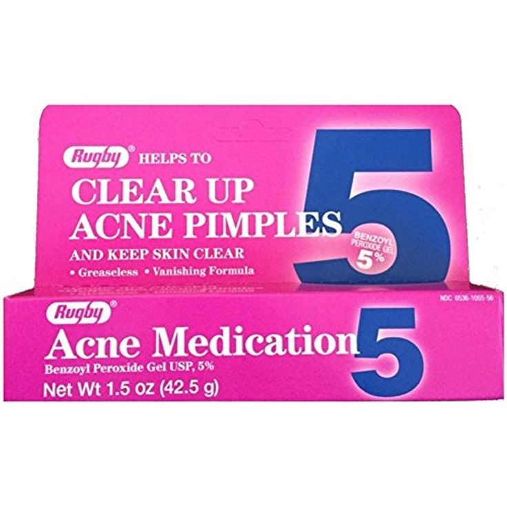 Rugby Clear Up Acne Pimples Treatment Medication Benzoyl Peroxide Gel 5 % 1.5 Oz #Rugby