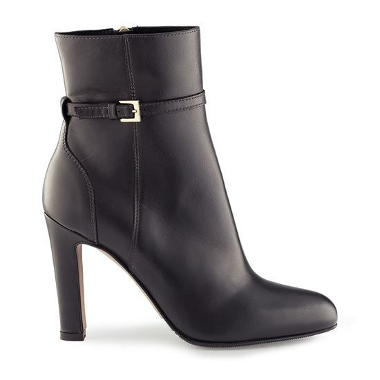 ankle boots, winter boots, leather boots, leather shoes, suede leather, leather lining, sole gomma tunith, 95mm heel, ankle boots Vitello 4119 NERO