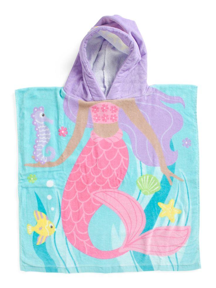 Kids Mermaid Hooded Towel