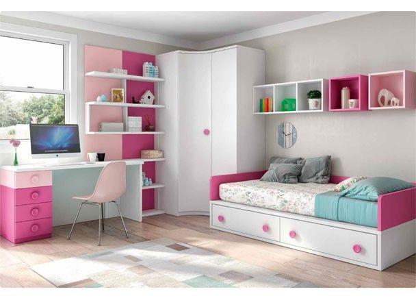 Mejores 162 im genes de mobiliario juvenil tonos rosas en - Mejor sistema para calentar una habitacion ...