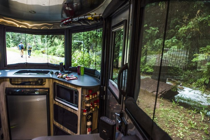 Airstream's Basecamp allows for efficient cooking and healthy eating after any adventure.