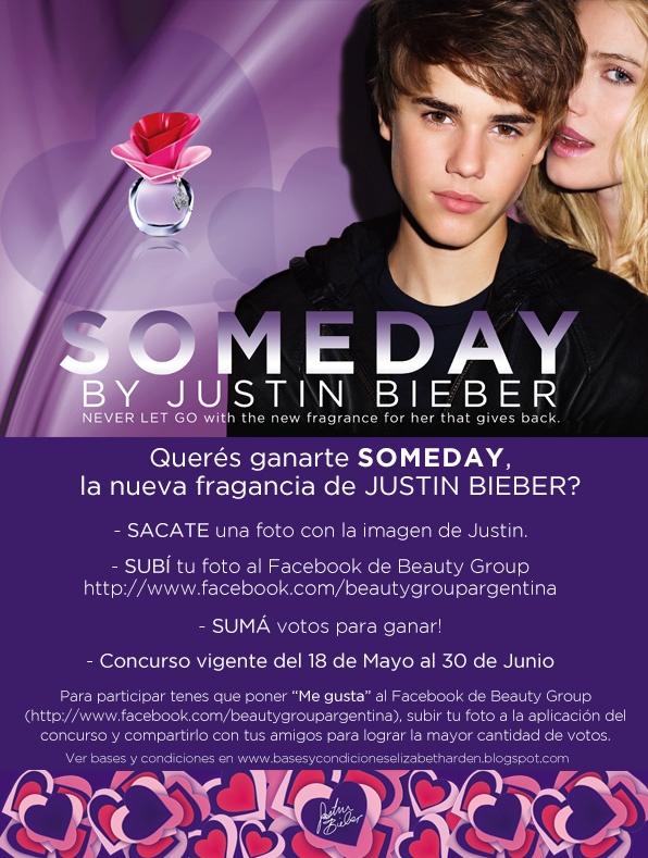 Participa por una fragancia Someday de Justin Bieber!!