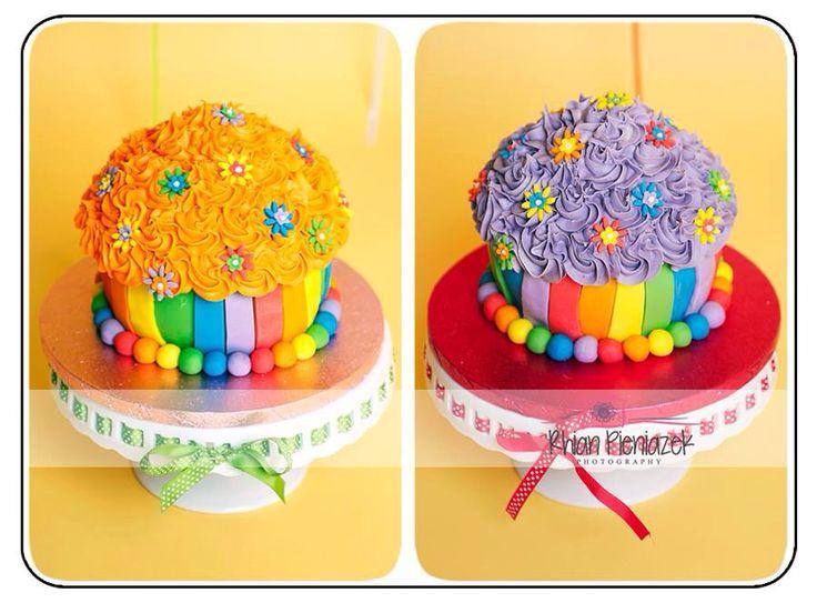 Rainbow theme cakes. Twins cakes. Cakes By Helzbach. Rhian Pieniazek Photography.
