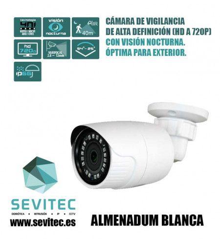Cámara de vigilancia de Alta Definición (HD a 720p) con Visión Nocturna. Óptima para exterior.