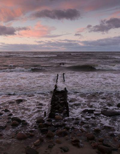 Холодное балтийское море