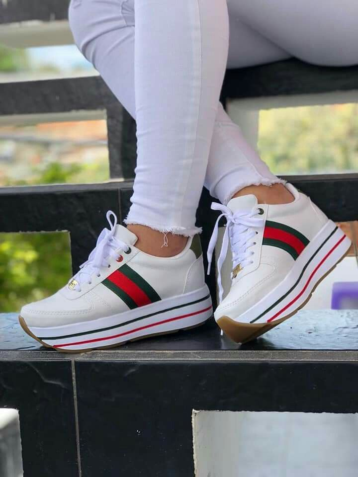 7080f47a Tenis plataformas | Zapatos in 2019 | Zapatos gucci, Zapatos ...