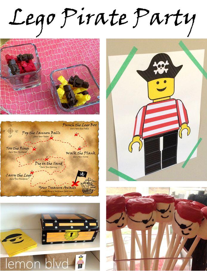 Lego Pirate Party - lemon blvd