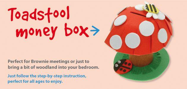 Toadstool Money Box   Craft Ideas at Patticrafts