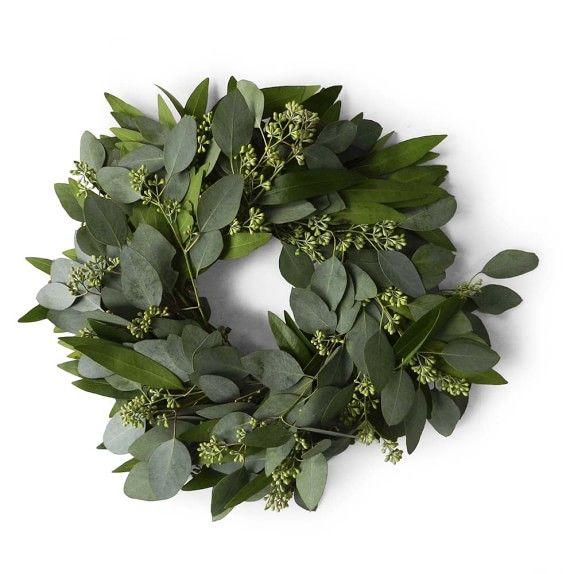 Bay Leaf and Seeded Eucalyptus Wreath, 12
