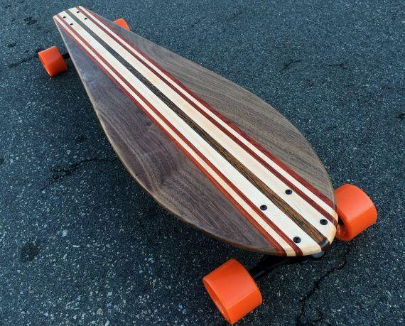 Four Types of Woods 36x9 Boomerang Longboard NICE BOARD