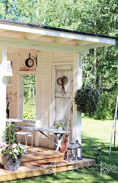 Not sure if this is a shed or a back porch..the link doesnt go anywhere, but its got some great ideas more news read here: http://outdoorgazebo.net
