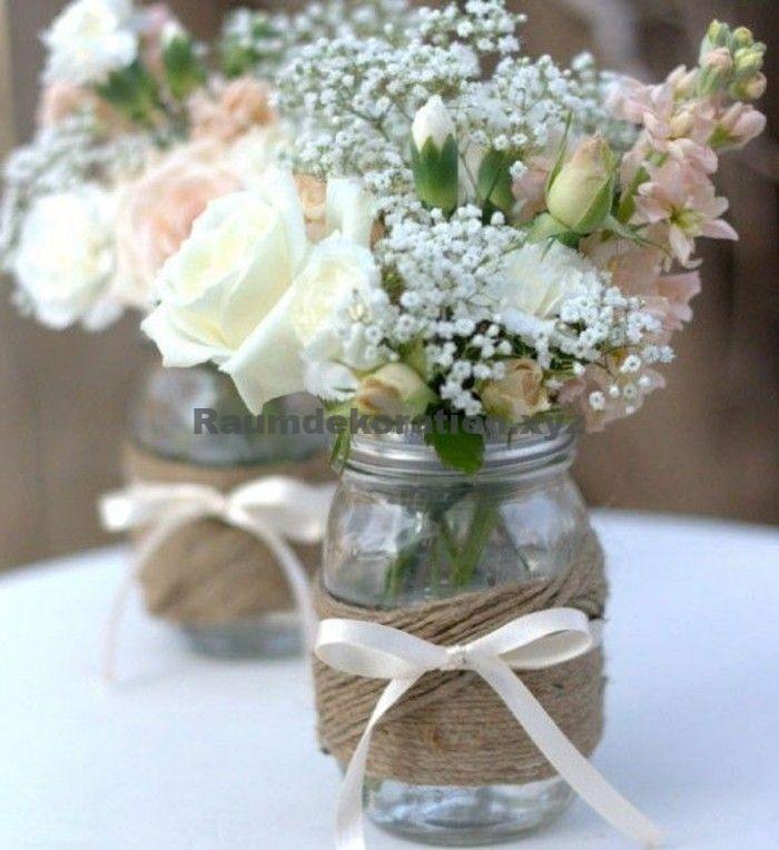 Tischdeko Hochzeit – 54 Dekos für eine romantische DIY Hochzeit – Hochzeit